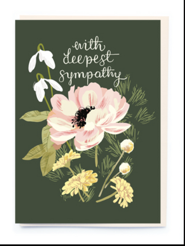 """With Deepest Sympathies"" Sympathy Card"