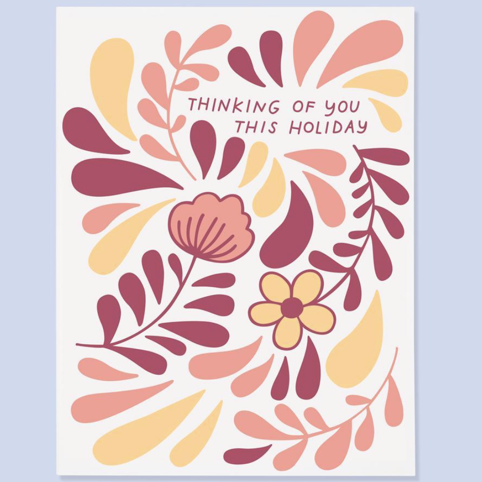 """Thinking of You This Holiday"" Sympathy Card"