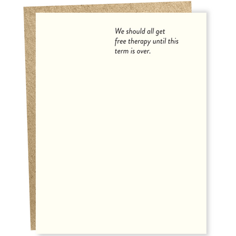 Free Therapy Everyday Humor Card