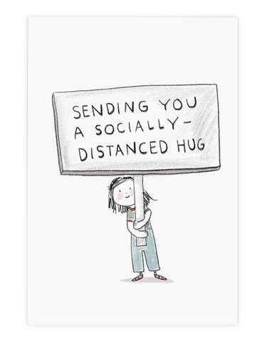 """Sending You a Socially Distanced Hug"" Everyday Card"