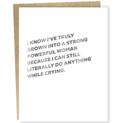 Powerful Woman Everyday Card