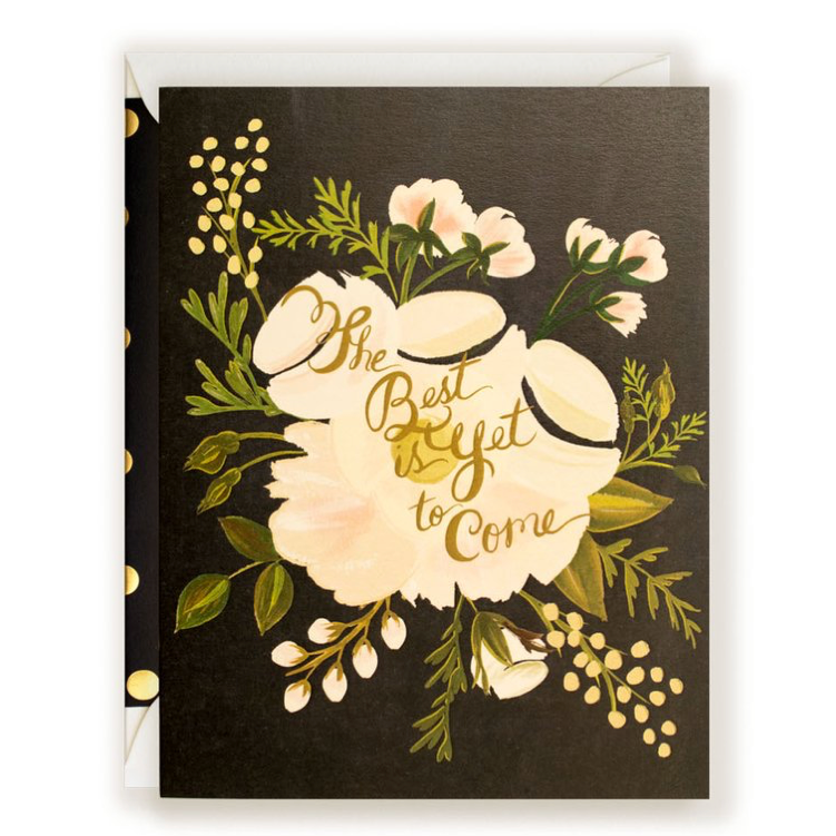"""The Best Is Yet to Come"" Wedding Card"