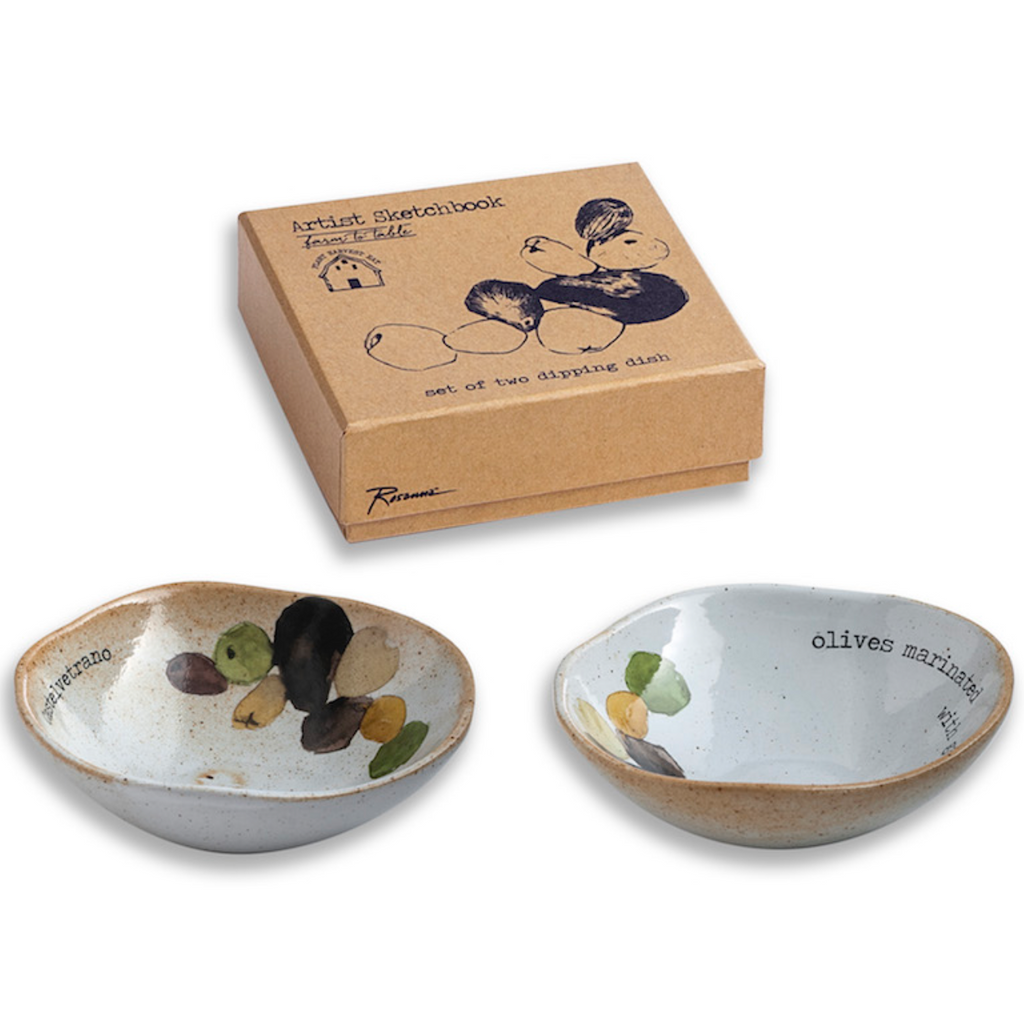 Farm to Table Set of Olive Dipping Dishes