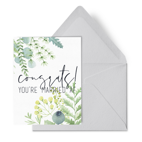 Married AF Wedding Card