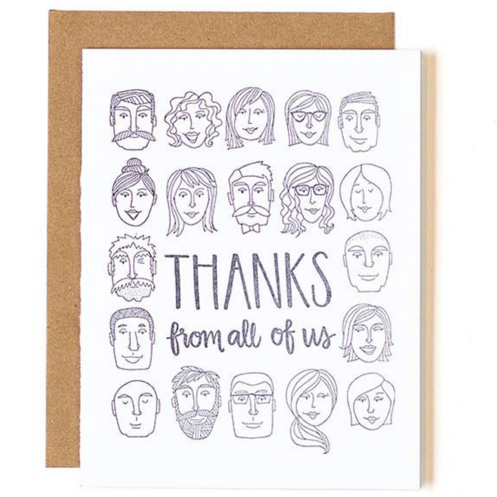 Thanks from All of Us Thank You Card