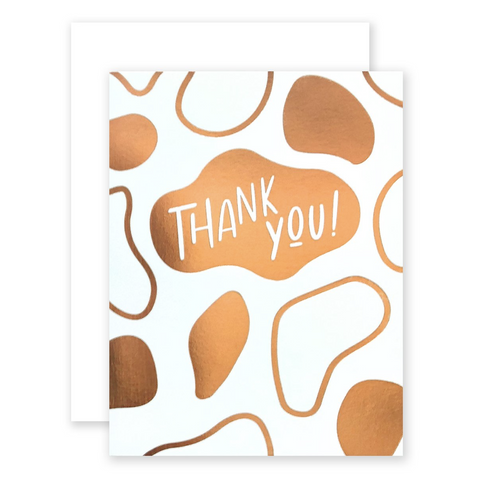 Gold Blob Thank You Card