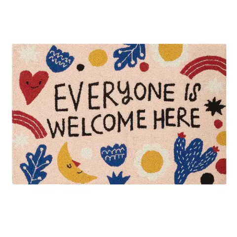 Everyone is Welcome Here Rug - pickup only