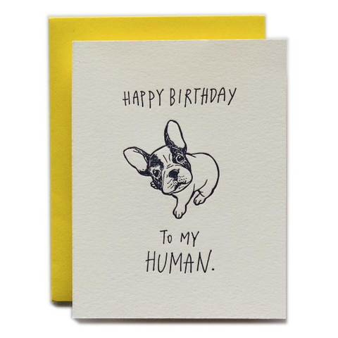"""Happy Birthday to my Human"" Card"