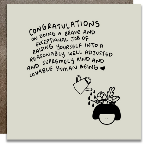 Congratulations On Doing a Brave and Exceptional Job Card