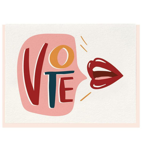 Vote Lips Card