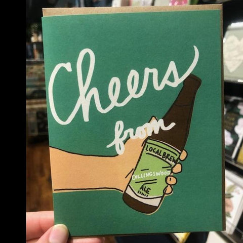 Cheers From Collingswood Congratulations Card