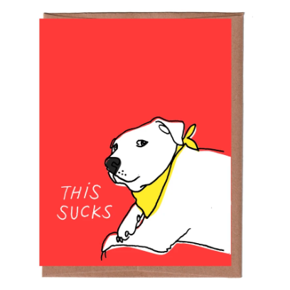 """This Sucks"" Sympathy Card"