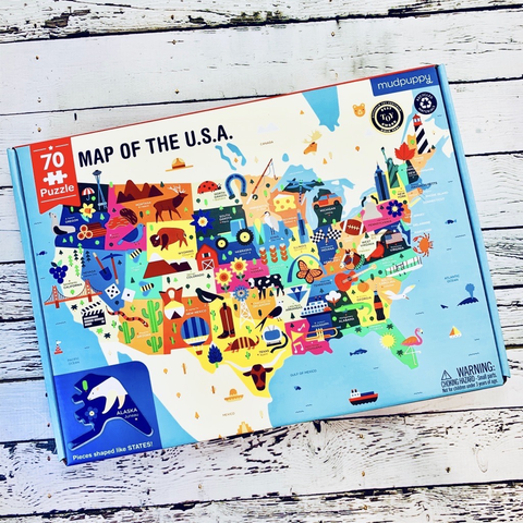 Map of the USA Illustrative Puzzle