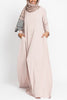 Blush Beige Empire Zip
