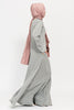 Heather Grey Double Zip Abaya