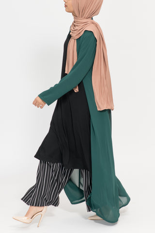 Emerald Maxi Sheer Cardigan