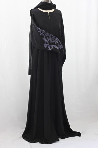 Grey Medallion Abaya