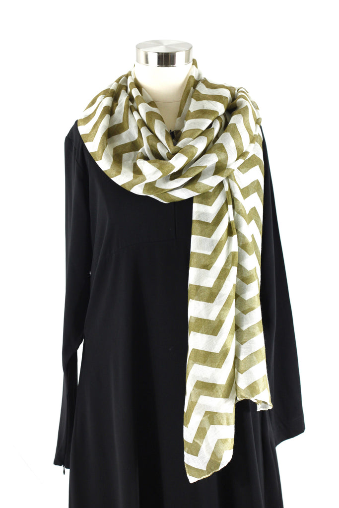 Golden Olive Chevron Wrap Hijaab