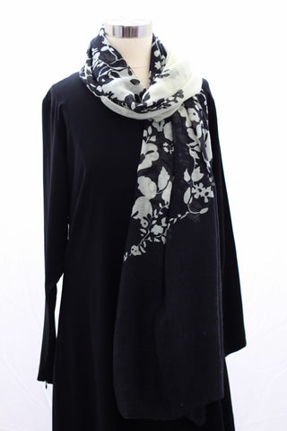 Black Creme Reflections Wrap Hijaab
