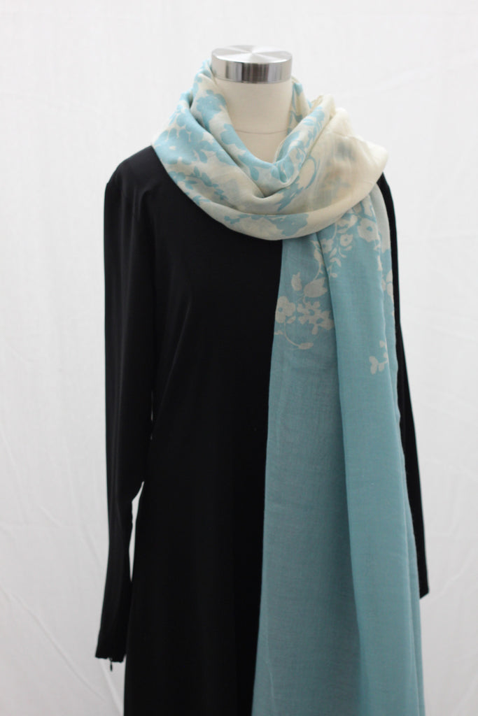 Light Blue Reflections Wrap Hijaab