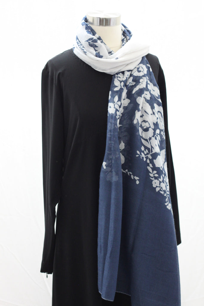 Navy Reflections Wrap Hijaab