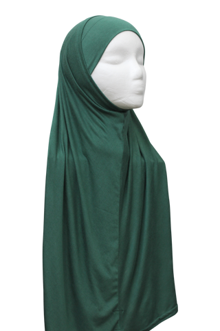 One Piece Slip-on Hijab - Emerald Green