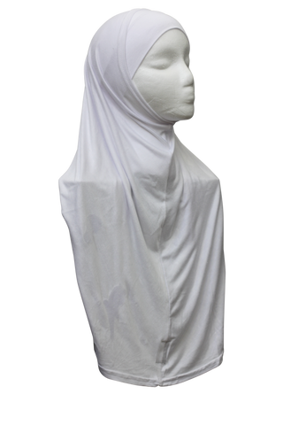 Two Piece Slip-on Hijab - White