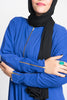 Royal Blue Jersey Dolman Zip