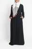 Black Pintuck Pleated Crepe Jilbab
