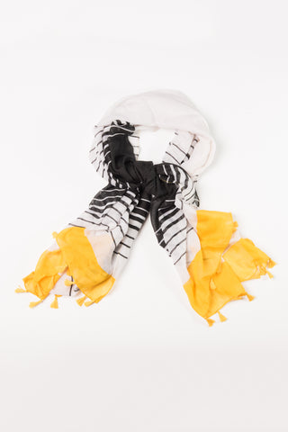 Black and Yellow Stripe Wrap Hijab