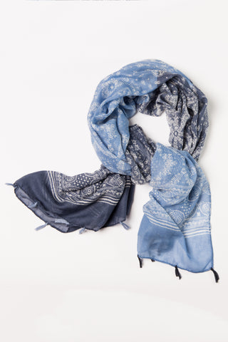 Denim Blue Bandana Wrap Hijab