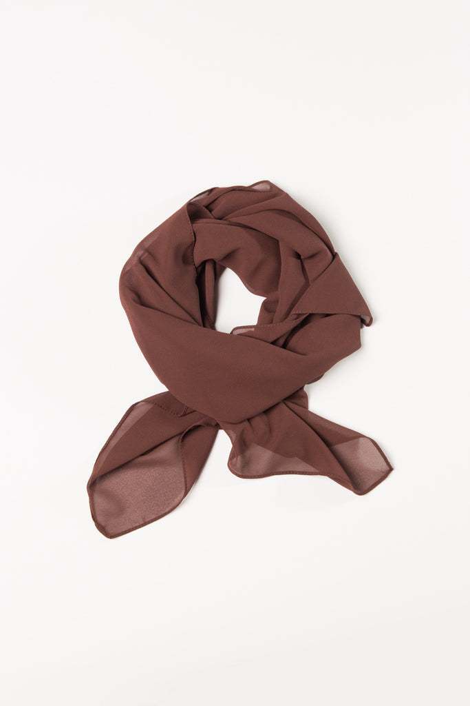 Cocoa Powder Brown Square Hijab