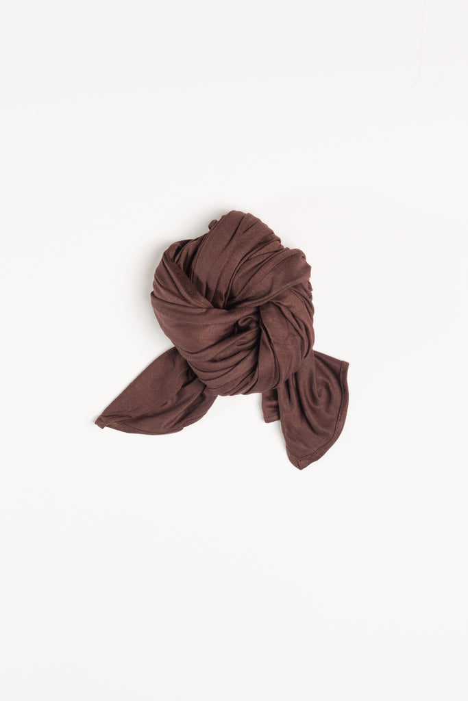 Dark Brown Jersey Wrap HijaaB