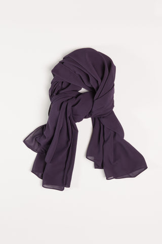 Royal Eggplant Purple Square Hijab