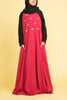 Girl's Ruby Jeweled Abaya