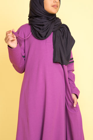 Girl's Grape Purple Hoodie Abaya