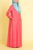 Girl's Coral Empire Waist Abaya