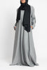 Grey Elbow Patch Henley Abaya