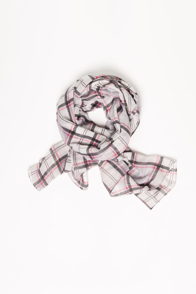 Light Grey Plaid Wrap Hijab