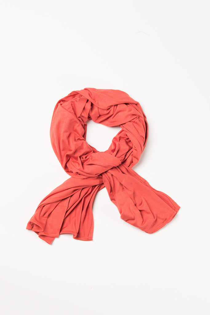 Rust Orange Jersey Wrap HijaaB