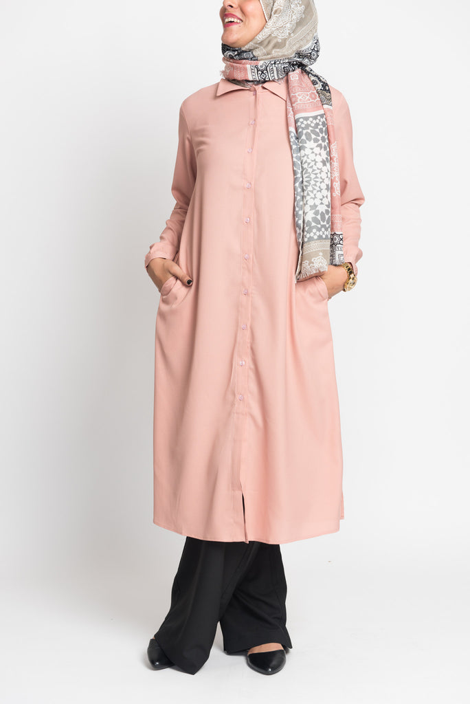 Dusty Pink Long Blouse