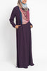 Plum Pintuck Pleated Crepe Jilbab