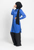 Royal Blue Long Satiny Blouse