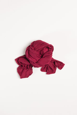 Ruby Red Jersey Wrap HijaaB