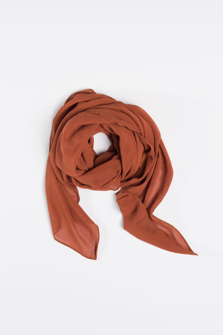Copper Rust Square Hijab