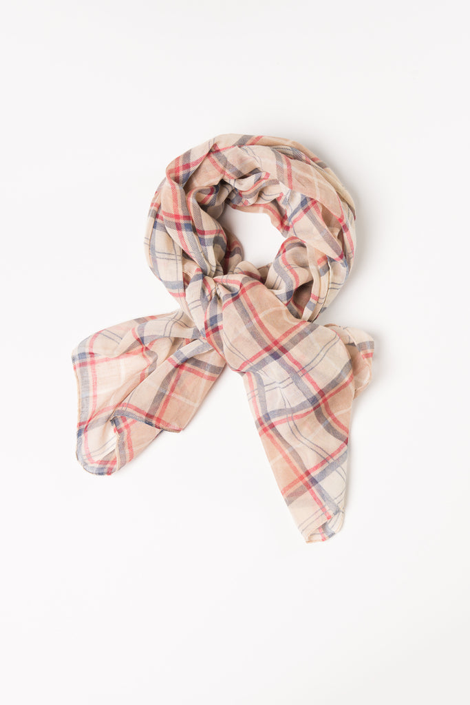 Tan Plaid Wrap Hijab