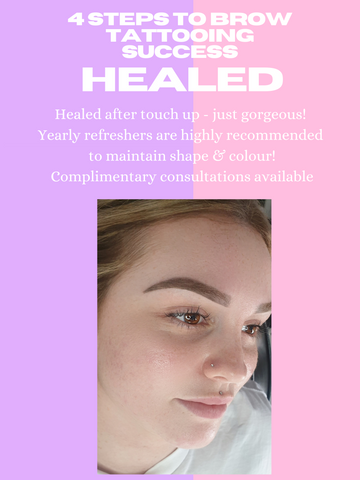 Ombre eyebrow aftercare. Brisbane best ombre eyebrows. Revamp cosmetic tattoo & aesthetics. Microblading. Eyebrows Brisbane
