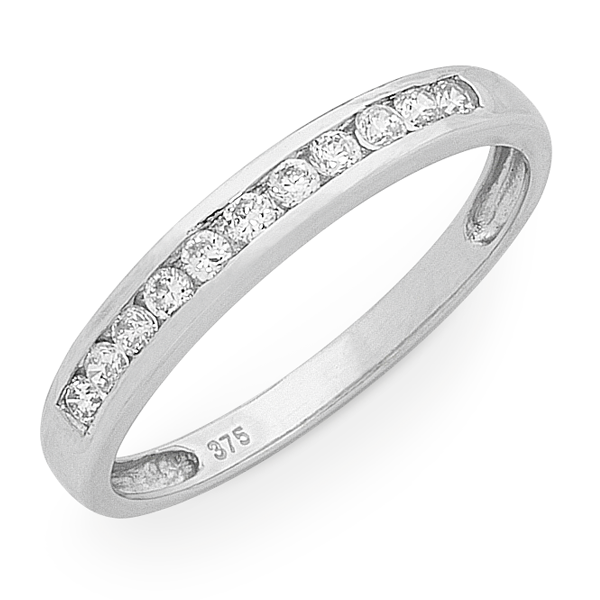 9ct White Gold 1/4ct TDW Diamond Ring