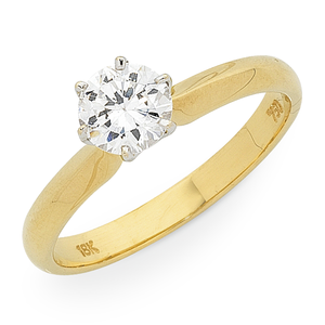 18ct Gold 1ct TDW Diamond Solitaire
