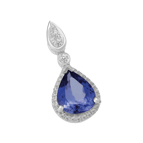 18ct Gold Pear Tanzanite Pendant